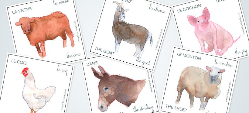 Les animaux de la ferme : en anglais ! – Partie 1